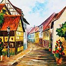 TOWN IN GERMANY - OIL PAINTING BY LEONID AFREMOV by Leonid  Afremov