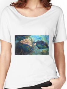 Lotus and frog morning Women's Relaxed Fit T-Shirt
