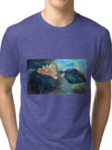 Lotus and frog morning Tri-blend T-Shirt
