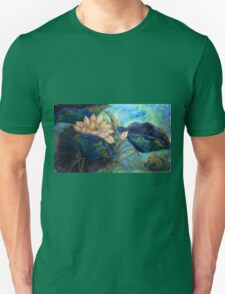 Lotus and frog morning Unisex T-Shirt
