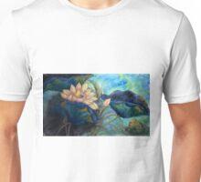 Lotus and frog morning Unisex T-Shirt