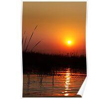Sunset on Delta Poster