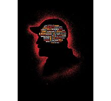 A Hunters Phrenology Photographic Print