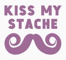 Kiss My Stache Kids Tee