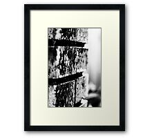 The Dirty Wall Framed Print