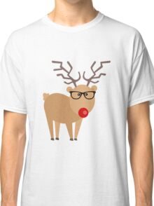 Hipster Rudolph Reindeer Cute Holiday Art Classic T-Shirt