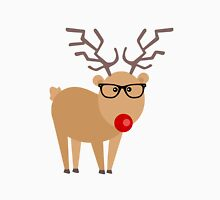 Hipster Rudolph Reindeer Cute Holiday Art Unisex T-Shirt