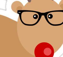 Hipster Rudolph Reindeer Cute Holiday Art Sticker
