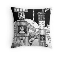 Tinky Winky Suddenly Wakes Up Throw Pillow