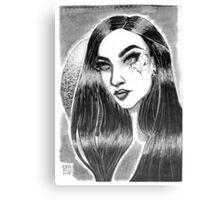 Cracked Girl Canvas Print