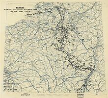 December 21 1944 World War II Twelfth Army Group Situation Map by allhistory