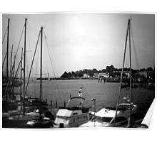 NeinGrenze - Harbour b&w Poster