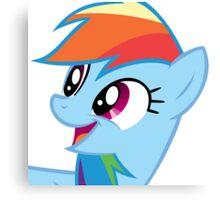 Rainbow Dash Happy Canvas Print