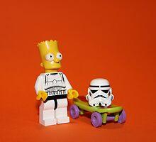 Bart Simpson Stormtrooper by Kirk Arts