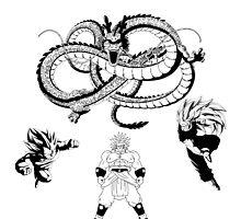 Brolly Vs Goku & Vegeta - Under The Eternal Dragon (Manga Style) by Mike Bronson