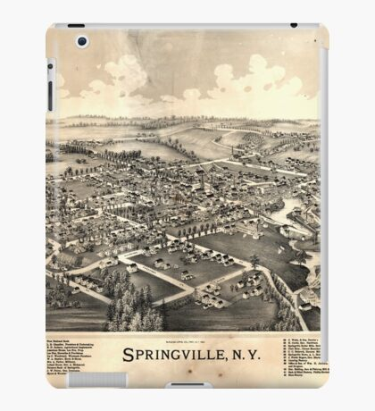Panoramic Maps Springville NY iPad Case/Skin