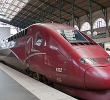 Thalys Unit 4322 at Gare Du Nord station in Paris France by Keith Larby
