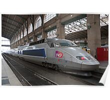 SNCF Voyager at Gare Du Nord Station in Paris, France. Poster