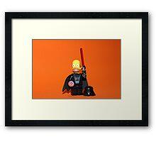 Homer Simpson Darth Vader Framed Print