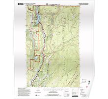 USGS Topo Map Washington State WA Boundary Dam 240169 1992 24000 Poster