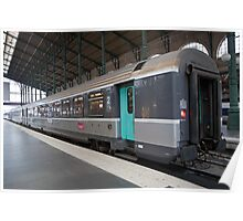 SNCF train at Gare Du Nord Station in Paris, France. Poster