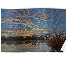 Sunrise reflections - Longford, Tasmania, Australia Poster