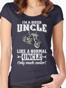 I'm a Biker Uncle . Like a normal Uncle , only much cooler T Shirt , Hoodies , Bags , Mugs & More Women's Fitted Scoop T-Shirt