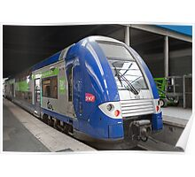 French Double Decker train in Gare Du Nord, Paris, France Poster