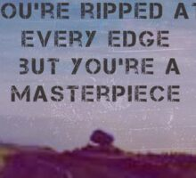 HALSEY-You're ripped at every edge  Sticker
