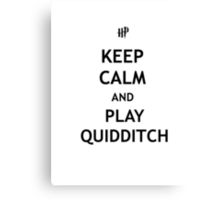 Keep Calm and Play Quidditch Canvas Print