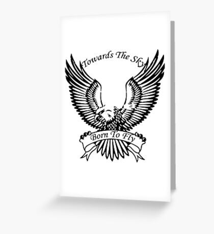 Towards The Sky, Born To Fly Greeting Card