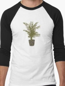 Houseplant With a Cool Pot Men's Baseball ¾ T-Shirt