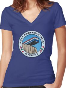 Self Preservation Society Women's Fitted V-Neck T-Shirt
