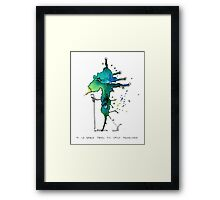 M. Le Grand takes his daily promenade Framed Print
