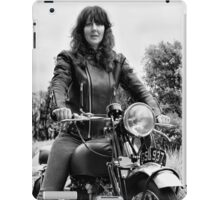 Girl on a Motorcycle iPad Case/Skin