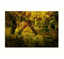 Pedestrians On the Move No.1 Art Print