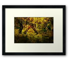 Pedestrians On the Move No.1 Framed Print