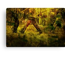 Pedestrians On the Move No.1 Canvas Print