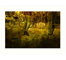 Pedestrians and Bicycles On the Move No.2 Art Print