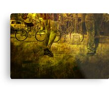 Pedestrians and Bicycles On the Move No.2 Metal Print