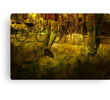 Pedestrians and Bicycles On the Move No.2 Canvas Print