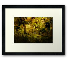Pedestrians On the Move No.5 Framed Print