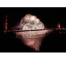 Fireworks - 75th Anniversary of the Golden Gate Bridge Photographic Print