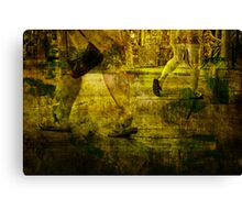 Pedestrians On the Move No.7 Canvas Print
