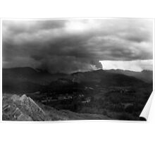 Wetherlam Storm From Loughrigg Summit Poster
