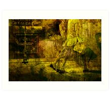 Pedestrians On the Move No.10 Art Print