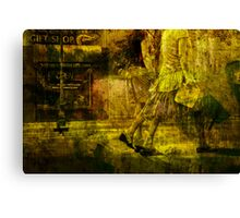Pedestrians On the Move No.10 Canvas Print