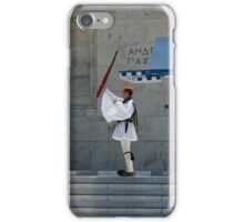 Greek traditional costume guard -Parliament iPhone Case/Skin