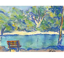 Along the Water (pastel) Photographic Print
