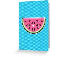 Kawaii Watermelon Slice Greeting Card